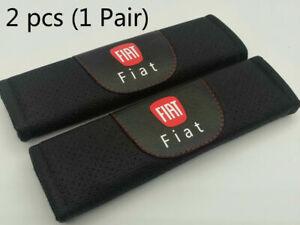 2Pcs Black Color Car Seat Belt Shoulder Cushion Cover Pad Fit For Fiat Auto