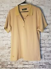 Loudmouth Women's Shirt XXL Brown Polo Short sleeve Golf 3/4 Button t74