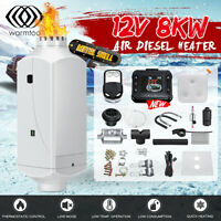 Metal 12V 8KW Diesel Air Heater Kit LCD Switch+Remote Control+ Silencer