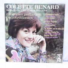 """33T Colette RENARD Vinyle LP 12"""" CHANSONS PAILLARDES CROUSTILLANTES -Mr PICKWICK"""