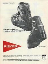 1968 Rieker F 700 F700 Ski Boot Ad
