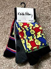 Rare NEW Vintage Retro Old Skool Style KEITH HARING Mens Socks 3 Pack  New York