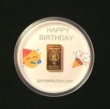 1g Gramm Geburtstag Geschenk HEIMERLE & MEULE Gold Barren, prägefrisch!!