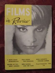 RARE FILMS in REVIEW Magazine August-September 1964 Boris Karloff Bebe Daniels