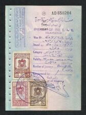 Syria Old 3 Revenue Stamps on Used Passport Visas Page
