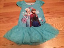 Disney Store Princess Anna & Elsa Sleepwear Night Gown Costume Dress 4 New Blue
