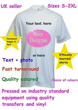 Personalised quality custom printed unisex T shirts. Your Photo//Text.Stag Hen