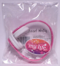 My Life As All American Girl Doll Pink Headphones w/ White Ear Pads *NEW* Beats