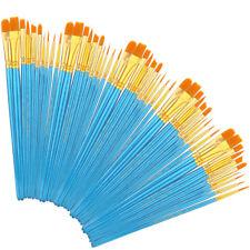 50 Pcs Pro Paint Brush Set Nylon Brushes For Oil Watercolor Acrylic Painting Art