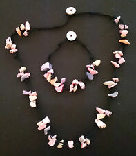 Candy Colour Mother of Pearl Shell Necklace & Bracelet Set.  Looks stunning on!