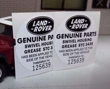 Land Rover Defender 90 110 TDI STC3435 Dreh Fett REPRO Teile Aufkleber
