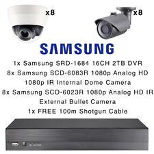 SAMSUNG 16CH DVR 2 TB 8x Cupola Interni Esterni 8x Proiettile telecamere CCTV 1080p HD
