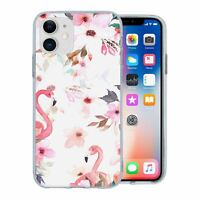 For Apple iPhone 11 Silicone Case Flamingos Birds Pattern - S799
