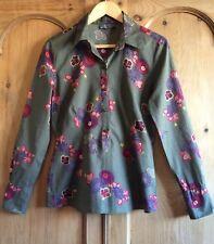 Mexx Fine Cotton Khaki Floral Shirt - 10