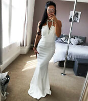 Quiz embellished Evening Maxi choker fishtail bridal Womens dress RRP £49.99 ❤