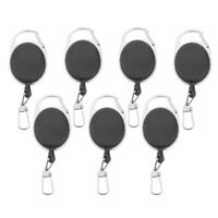 7 Pieces Key Retractor Chain Extractor Keychain Keyring ABS Plastic Fashion