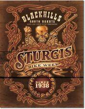 Plaque métal BIKER - STURGIS - No Tomorrow - Harley