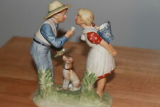 Norman Rockwell Beguiling Buttercup Gorham Bisque Ceramic Figurine