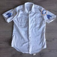 Vintage Chicago police department CPD dress shirt uniform with patches Sz Large