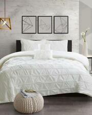 Full Size Comforter Set IVORY Tufting detail decadent texture to the Kennedy S