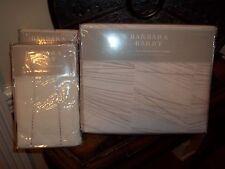 NIP Barbara Barry Quill Marble Full Queen Duvet Cover & Euro Shams Set