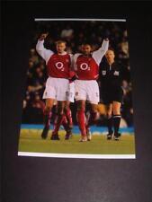 ARSENAL FC LEGENDS THIERRY HENRY (100th GOAL) & DENIS BERGKAMP PHOTOGRAPH
