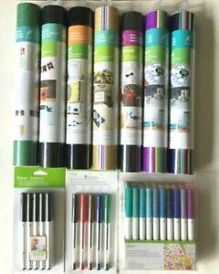 Cricut Lot - Vinyl Fine Tip Pen Markers  Glitter Assortments Chalkboard Iron On
