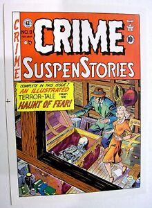 JOHNNY CRAIG EC CRIME SUSPENSE #9 ORIGINAL COLOR COVER PROOF - 1952!
