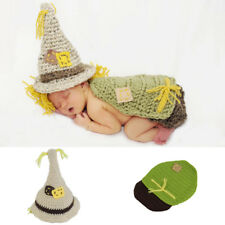 Baby Costume Newborn Crochet Scarecrow Cloak + Hat outfits Photography Prop