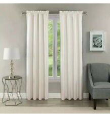 2 Eclipse Samara Room Darkening Energy-Efficient Thermal Curtain Panels White