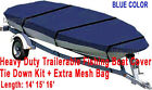 14 - 16 Aluminum Fishing Boat Cover Trailerable Blue Color Trailable Fb
