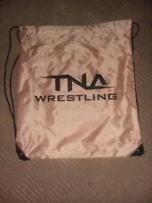 tna impact wrestling drawstring bag and banner aj atyles samoa joe hulk hogan