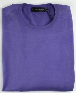 Ralph Lauren Jumper Lavender Purple Mens Size XXL Thin Knit Cotton Crew RRP £225