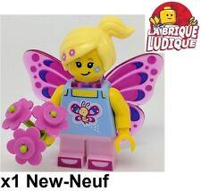 Lego - Figurine Minifig Minifigurine série 17 Butterfly Girl fille papillon NEUF
