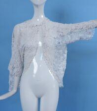 ANTIQUE EDWARDIAN HAND MADE IRISH CROCHET LACE DRESS 4 JACKET