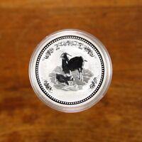 2003 Australia Lunar Series 1 Year Of The Goat 1oz 999 Silver Australian Rarity