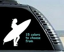 8 Sizes Female Girl Surfer Car Window Decal Sticker Tablet Macbook Laptop Beach