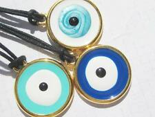 Evil Eye Greek Mati Tallisman Gold tone and Blue tones Necklace