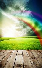 Rainbow Vinyl Photography Backdrop Background Studio Photo Props 3X5FT CA42