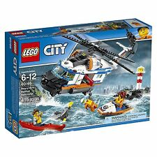 LEGO City Coast Guard Heavy-Duty Rescue Helicopter Building Kit, 415 Piece