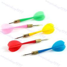 5Pcs/Set Plastic Soft Tip Brass Dart Needle Solid Dart Set Shafts with Flights