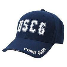 Navy Blue United States USA US Coast Guard baseball Cap Caps Hat Hats TEXT LOGO
