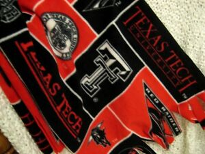 Fleece Scarf Muffler - Texas Tech Red Raider Fleece Neckwarmer - Handmade