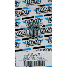 DRAG SPECIALTIES Chrome Button Torx Derby Cover Bolt Set Harley 1999-2015