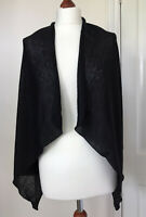 Marella Black Waterfall Long Sleeved Cardigan Fine Knit Mohair Mix Size Small