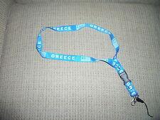 GREECE Lanyard Mobile Phone IPod &Keys Strap NEW