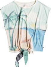 Roxy T-Shirt WHITE TATTOO TROPICAL naturweiß mit Druck, zum Verknoten Damen NEU