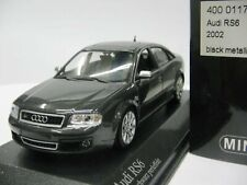 WOW EXTREMELY RARE Audi RS6 C5 Saloon Quattro 2002 Black met 1:43 Minichamps-RS4