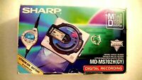 VINTAGE SHARP MINIDISC WALKMAN PLAYER RECORDER MD-MS702H