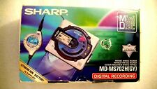 VINTAGE SHARP MINIDISC WALKMAN PLAYER RECORDER MD-MS702H